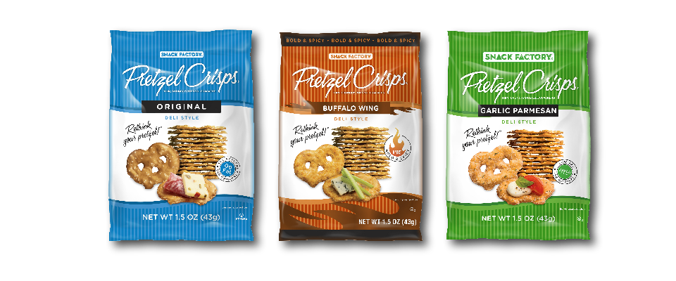 SSIS Pretzel Crisps in 3 varieties